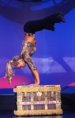 Natalie in Competition Doing Hand Stand
